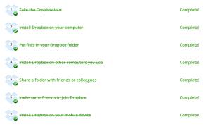 Dropbox Checklist